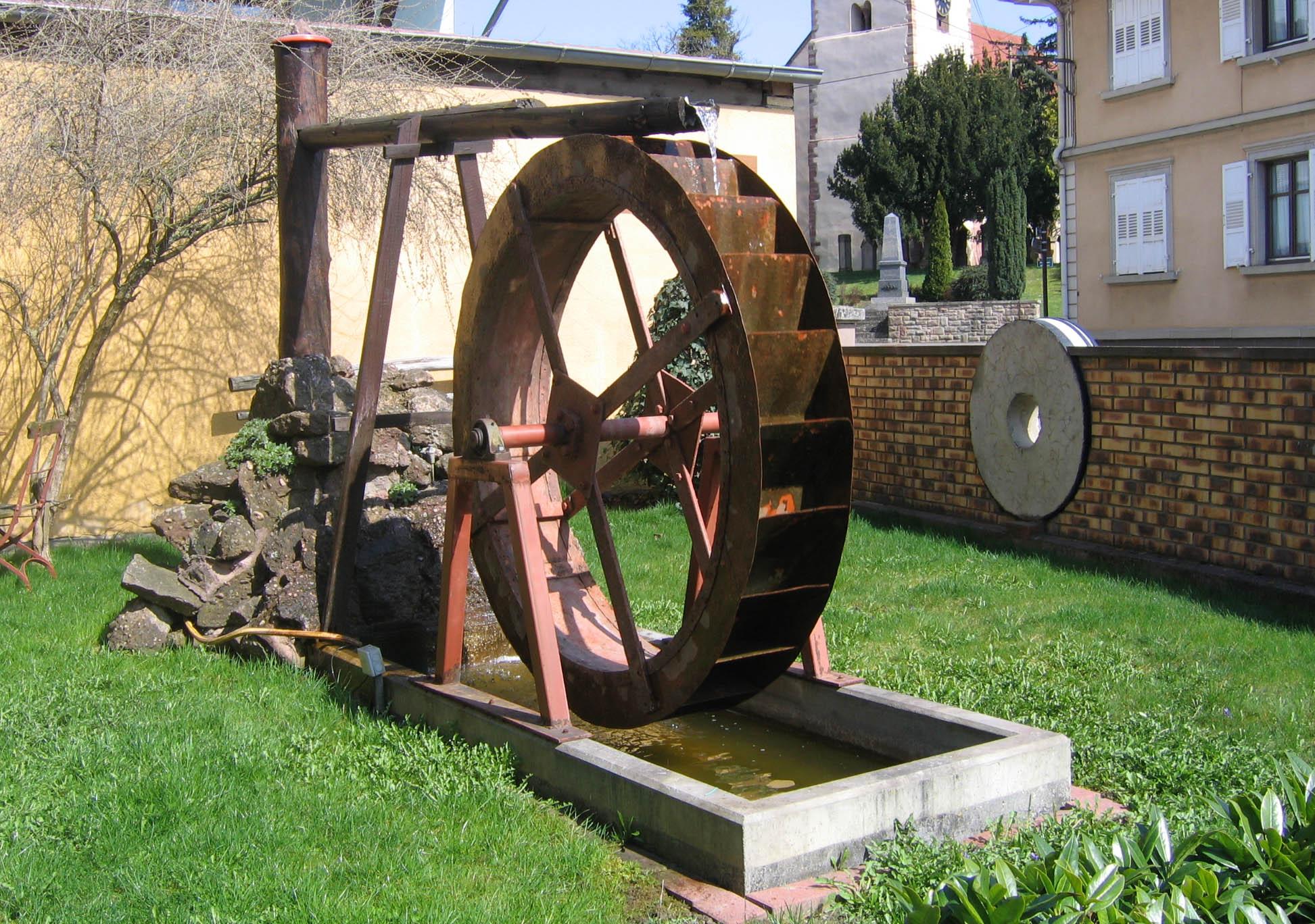 Visite d'un moulin à farine